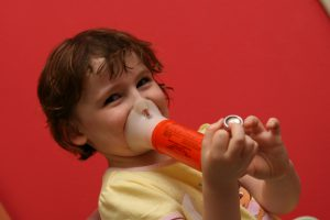 A child with asthma